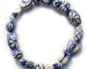 Porcelain Beaded Bracelet