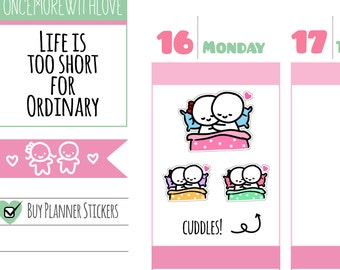 Munchkins - Cuddle Time! Planner Stickers (M239)