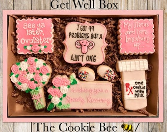 Get Well Soon - Hysterectomy Cookie Gift Box