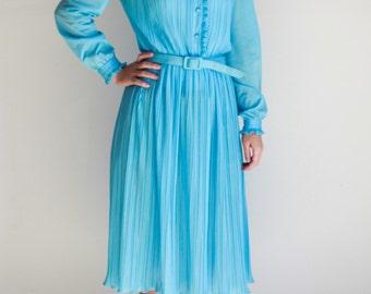 Vintage, Sky Blue Dress