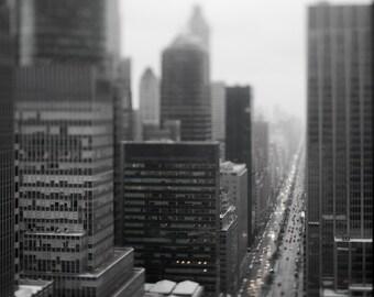 Park Avenue in the Rain, New York City - Digital Download