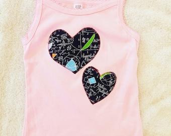 Little girl shirt, toddler shirt, little girl  clothing, math girl, math gift, stem