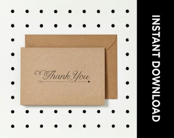 Rustic Thank You Card PRINTABLE