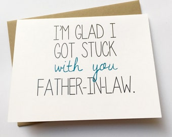 Father in Law Card - Funny Card for Father-in-Law - Funny Father-in-Law - In-Law Happy Birthday
