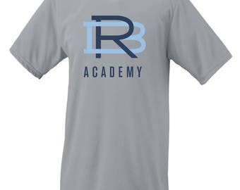 RBA Interlocking Logo Moisture Wicking Short Sleeve T-Shirt-Front and Back Print