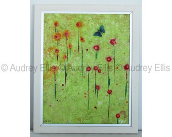 Hand Painted Original Acrylic, Mixed Media on Paper, No. 11
