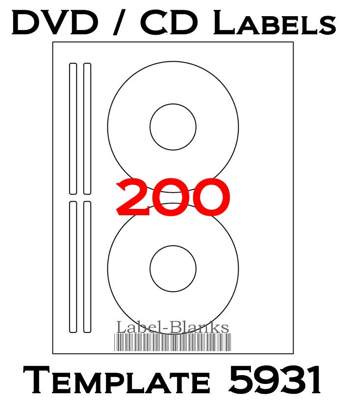 Blank Laser Ink Jet Labels For Cd Or Dvd 100 Sheets Avery