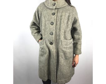 1950s pure wool grey coat by SILVER CLOUD by STRATHMORE