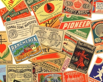 10pcs 1890s-1920s  EUROPEAN MATCHBOX LABELS Antique