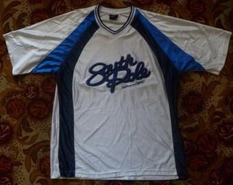 SOUTH POLE jersey, vintage Southpole t-shirt, white 90s hip-hop clothing, 1990s shirt, og, gangsta rap, size XL