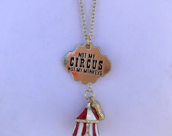 Circus Monkey Necklace