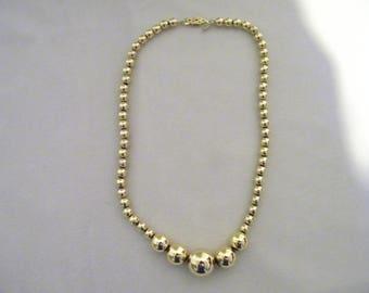 Vintage Napier Goldtone Bead Necklace