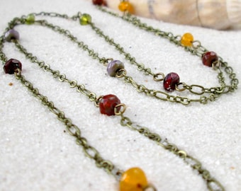 Gift for Women - Handmade Necklace - Long Layering Necklace - Gift Idea - Handmade - Boho Necklace - Long Boho Necklace - Autumn Series16