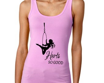 Hurts So Good Lyra tank top / aerial hoop / aerial fitness / workout clothing / aerialist clothing / circus / cirque - (lilac)