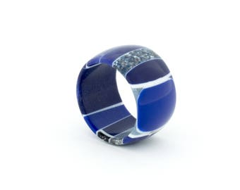 Corian ® band ring made from Corian ®-Design ring-One of a kind