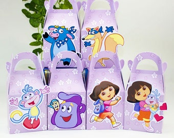 Dora The Explorer Favor Box Candy Box Gift Box Cupcake Box Boy Kids Birthday Party Supplies Decoration Event Party Supplies