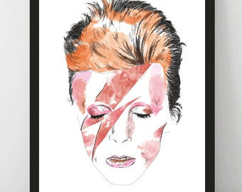 Instant Download, David Bowie, Printable Wall Art, Home Decor