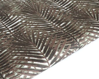 Cotton fabric Brown Palm by 50 cm