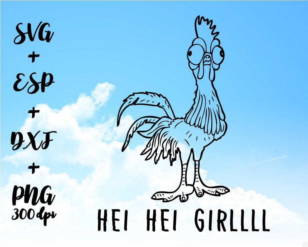 Hei Hei Girl MOANA PNG High Resolution SVG Clipart transparent