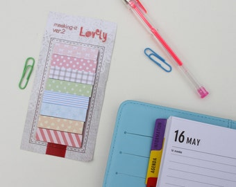 Cute Ditsy pattern Planner sticky notes, Planner marker stickers