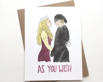 The Princess Bride Card // As you wish