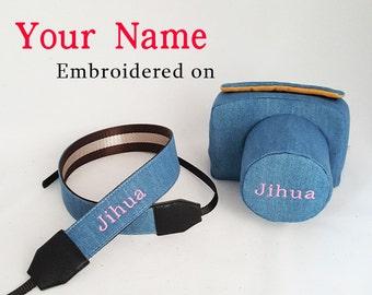 personalized custom name camera bag insert case purse dslr leather backpack pattern vegan graduation gift for men women him birthday wedding