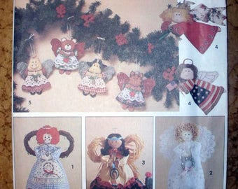 Christmas Decorations, Angel Tree Topper, Ornaments, Crafts Sewing Pattern Simplicity 7549