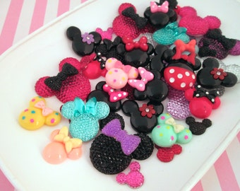 Assorted Mouse Ear Cabochons #756