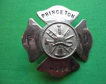 Fire Fighters Badge Princeton Ma