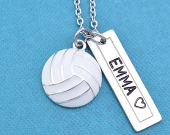 Volleyball Necklace.  Personalized jewelry. Personalized necklace. Name Necklace. Custom necklace. Personalized gift
