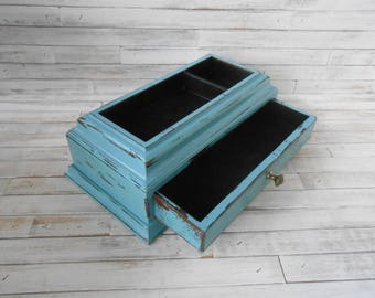 Teal jewelry box Etsy