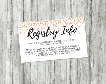 baby registry inserts