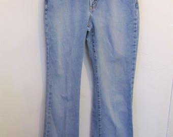 Women's Vintage 90's,Long Light Blue BOOTCUT Jeans By LIMITED JEANS.11L
