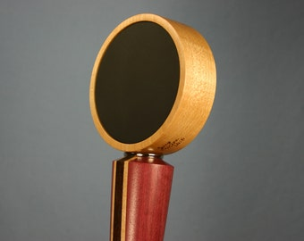 Wood Chalkboard Beer Tap Handle - Made to Order from Solid Purpleheart, Rock Maple, and Peruvian Walnut