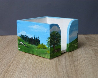 Paper box, hand painted,