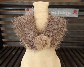 Hand Knit Cowl    Hand knit Scarfett