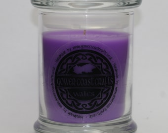 Black Cherry Scent Handpoured Highly Scented Medium Candle Jar