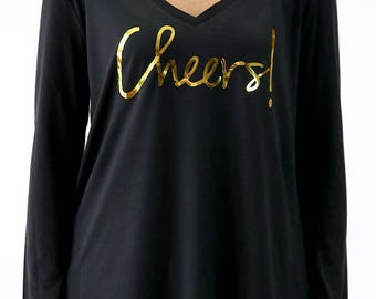 Cheers Long Sleeve Flowy