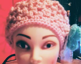Crochet butterfly beret