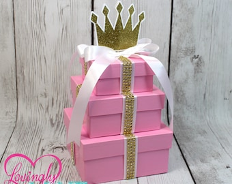 Baby Shower Gifts Wrapped In Clear ~ Princess centerpiece etsy