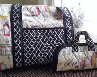 Quilted Duffel Bag with Matching Accessory Bag