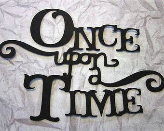 Once upon a time metal wall art