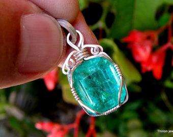 emerald natural emerald pendant emerald jewelry