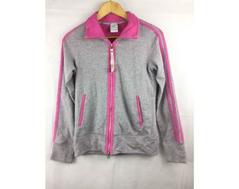 ADIDAS Long Sleeve Jackets Sportwear Large Size Kids Fully Zipper Pink Colour