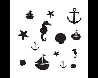 Come Sail Away - Art Stencil - Select Size - STCL1123 - by StudioR12