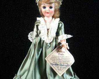 Vintage Carlson Doll, Martha Washington Carlson Doll, Collectible Doll, Martha Washington Doll, Old Doll, Souvenir Doll