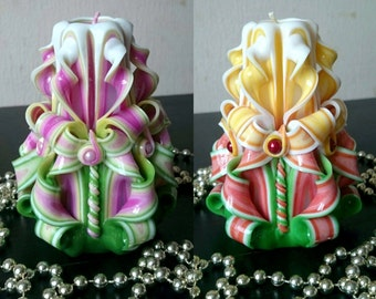 Gift for woman - Colorful Candle - Woman's gift - Unusual gift - Colorful Candles