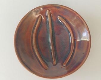 Purple Ceramic Soap Dish