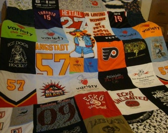 Tee Shirt Memory Blanket Unlimited Shirts (& things) and Size (payments accpeted)