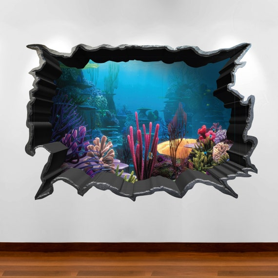 & Finding Nemo Aquarium 3D Wall Art Sticker Decal Boy Girl